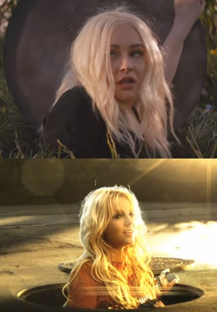 videoclips de Christina Aguilera fall in line britney spears