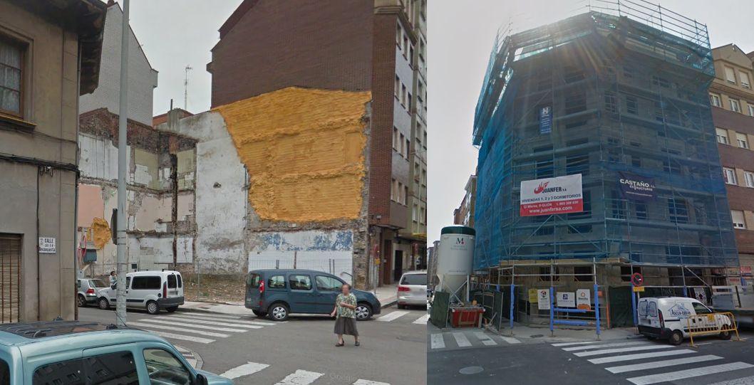Art Decó en Gijón que ha desaparecido en la calle Sagrado Corazón 18