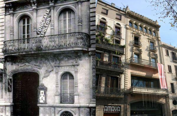 Casa Napoleón, Frontón Colón Barcelona