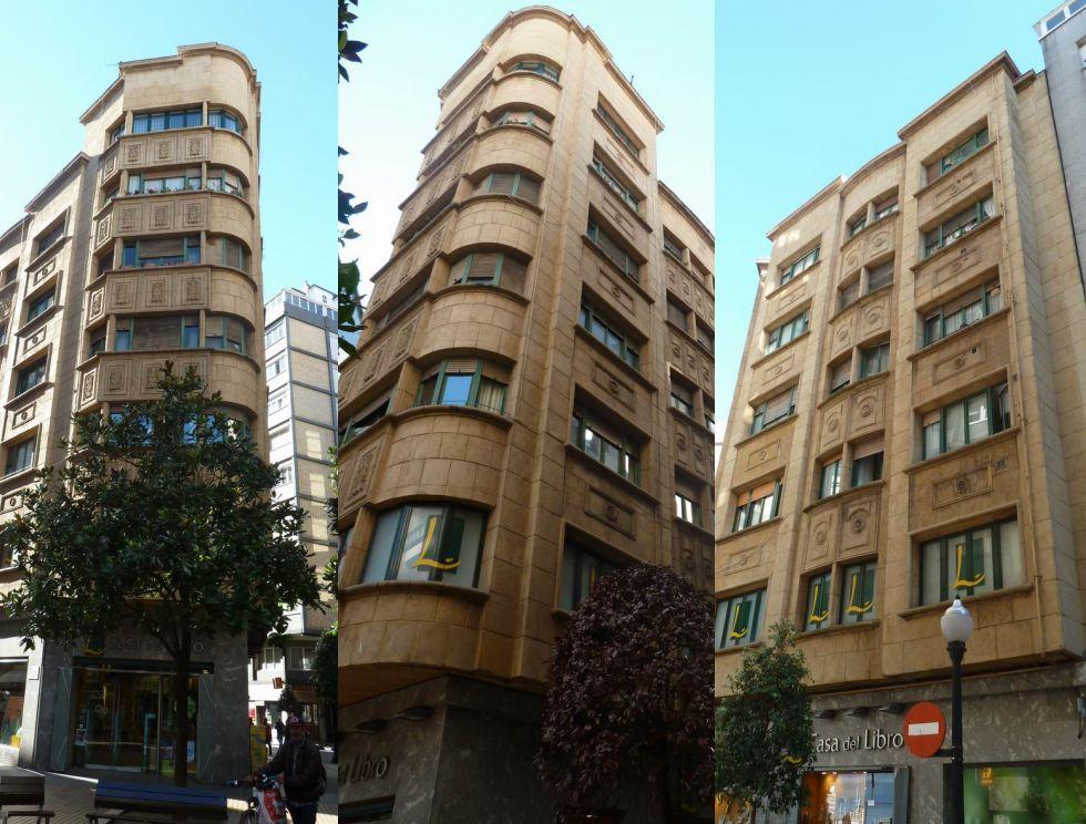 Plaza Italia 3 y Ruperto Velasco 2 es Art Decó en Gijón