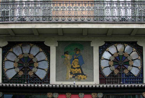 Vidrieras de la modernista Casa Bruno Quadros