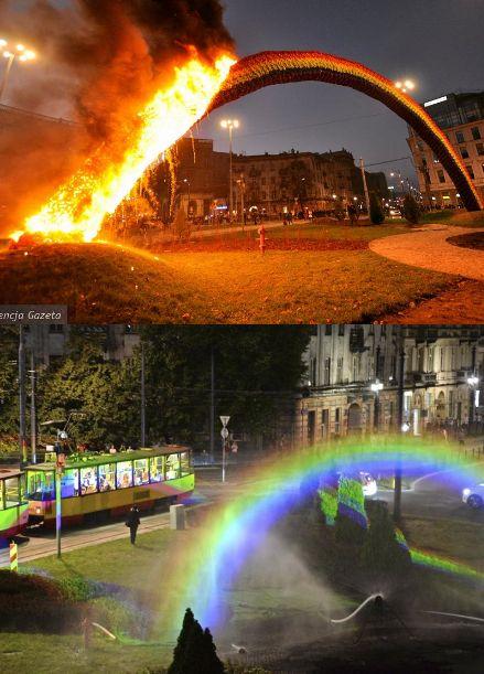 LGTBIQ en Plonia arde arcoíris