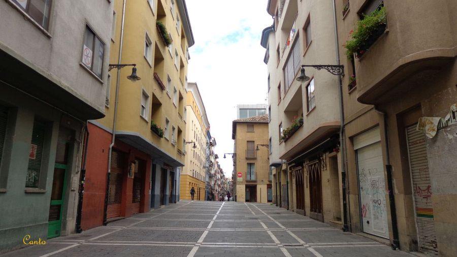 Calle San Agustín Pamplona Art Decó racionalista