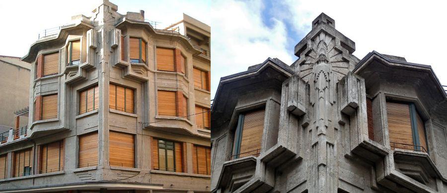 Casa Irigoyen y Café Bahía (calle Fernández Arenas, 4, esquina con García Castañón)