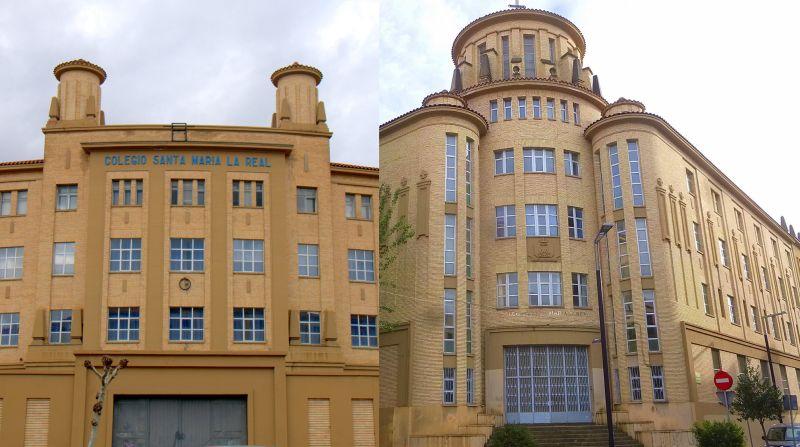 Colegio Santa María la Real de Maristas (se sitúa en una manzana formada en la confluencia de la avenida Galicia, la calle de Sangüesa y la calle de Tafalla)