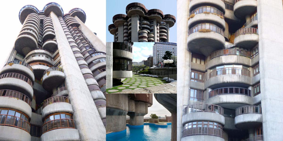 Torres Blancas Francisco Javier Sáenz de Oiza brutalismo expresionismo