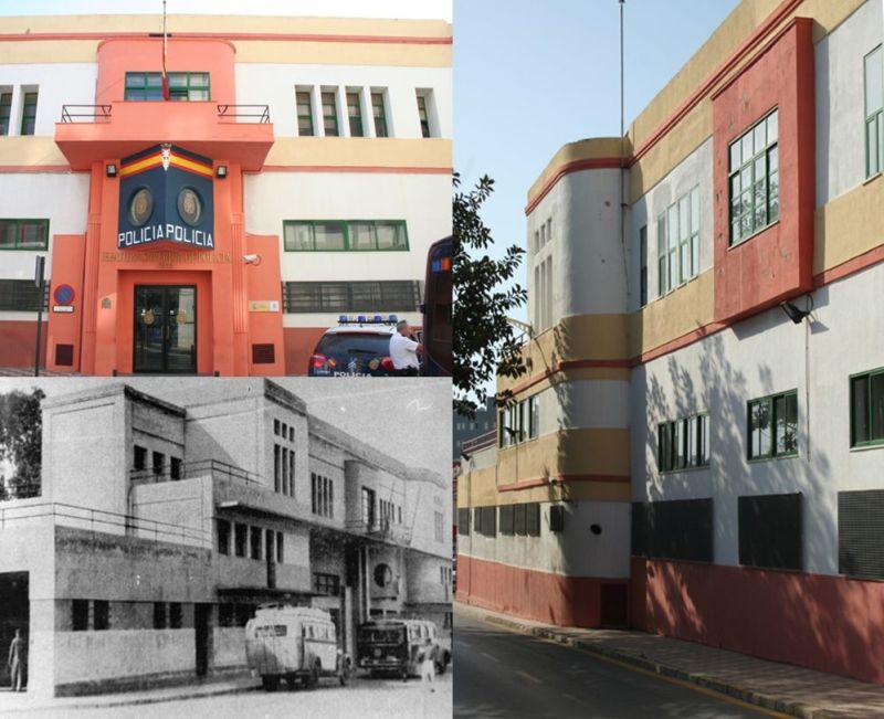 Antigua Estación de Autobuses de Ceuta y actual Jefatura Superior de Policía de Ceuta (paseo de Colón, 4)