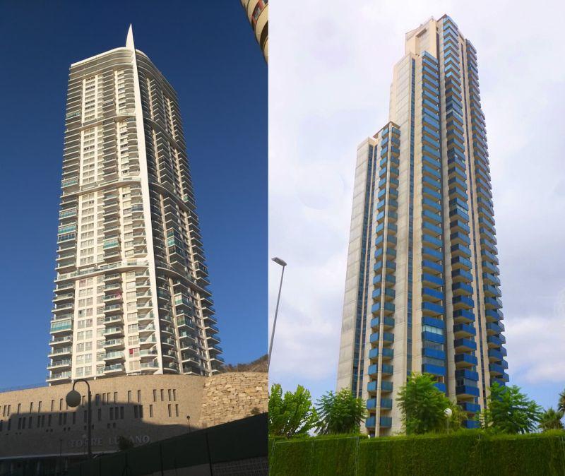 rascacielos históricos Benidorm