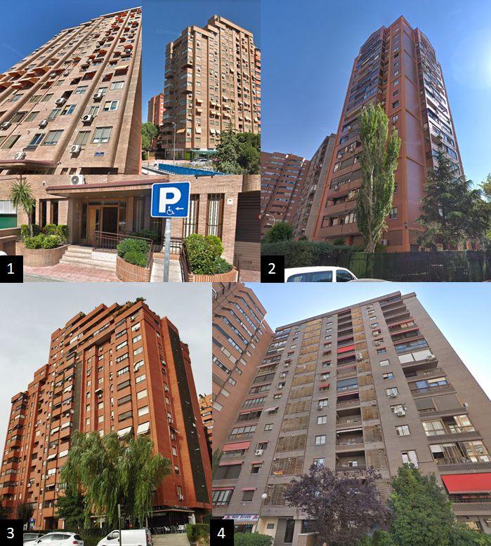 Rascacielos en España zona financiera de la M-30 Madrid