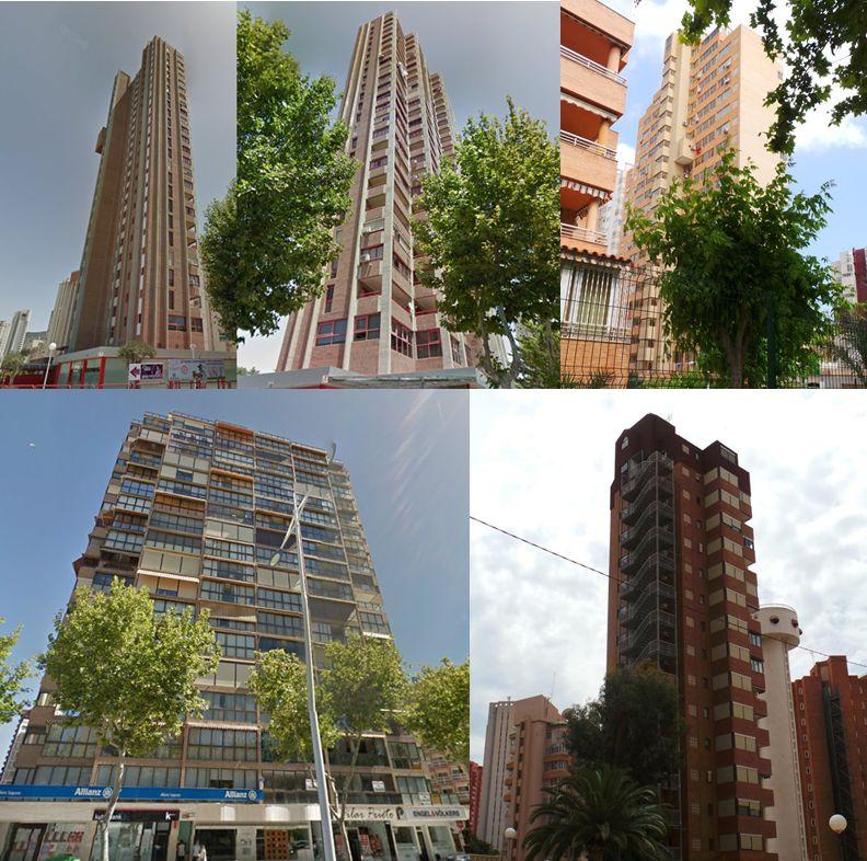 Rascacielos en España Benidorm años 80
