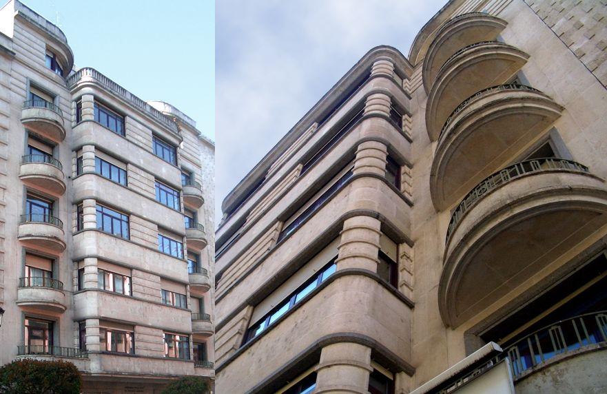 Viviendas Caja de Ahorros Municipal Marcos Rico Santamaría Burgos Art Decó en calle Vitoria 10