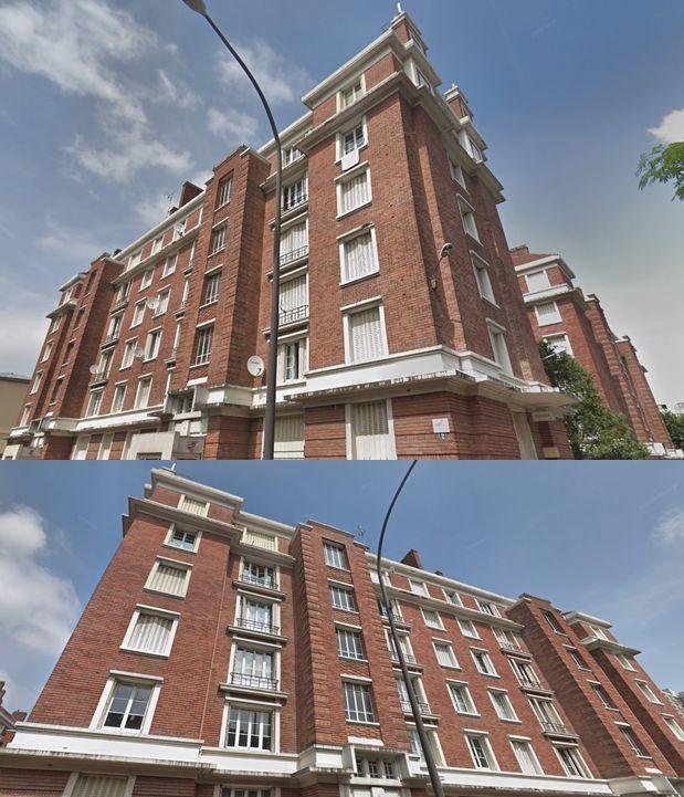 6 edificios en la confluencia de rue Saint Just y Pierre Guignois.