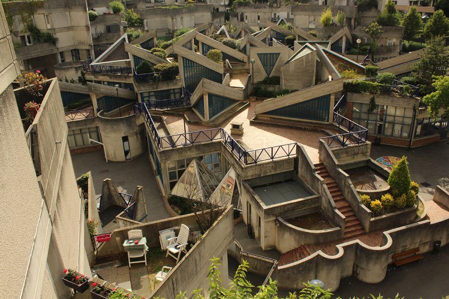 Brutalismo orgánico de Ivry sur Seine