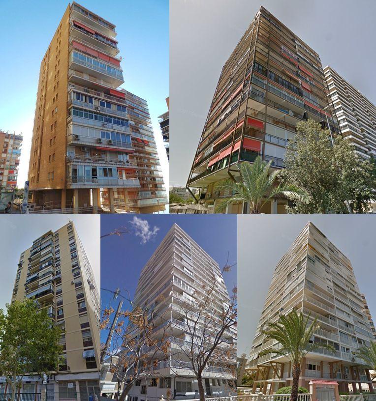 Alicante rascacielos antiguos 1968
