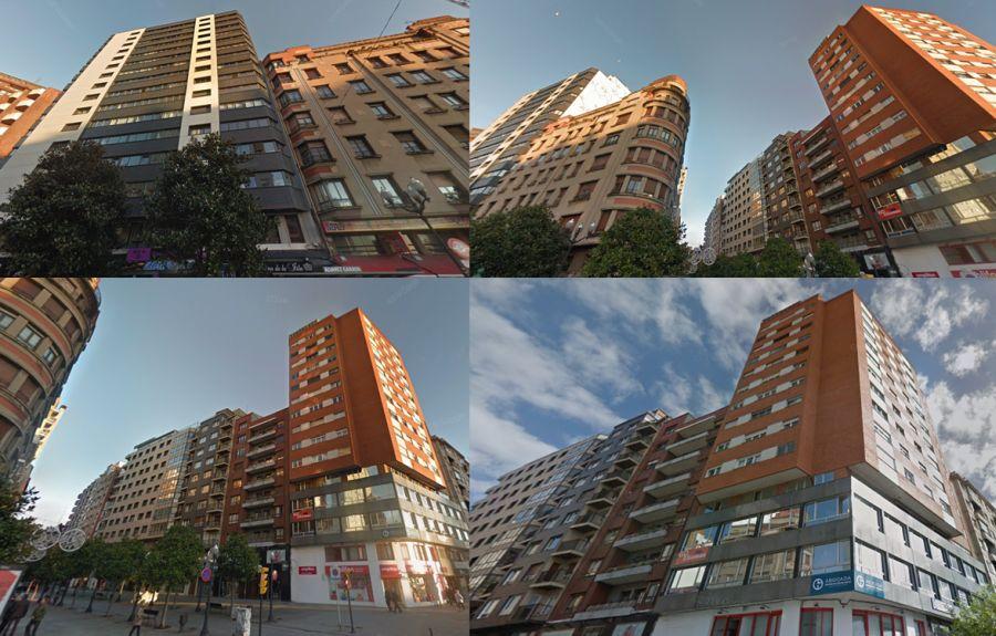 Gijón rascacielos antiguos y Art Decó