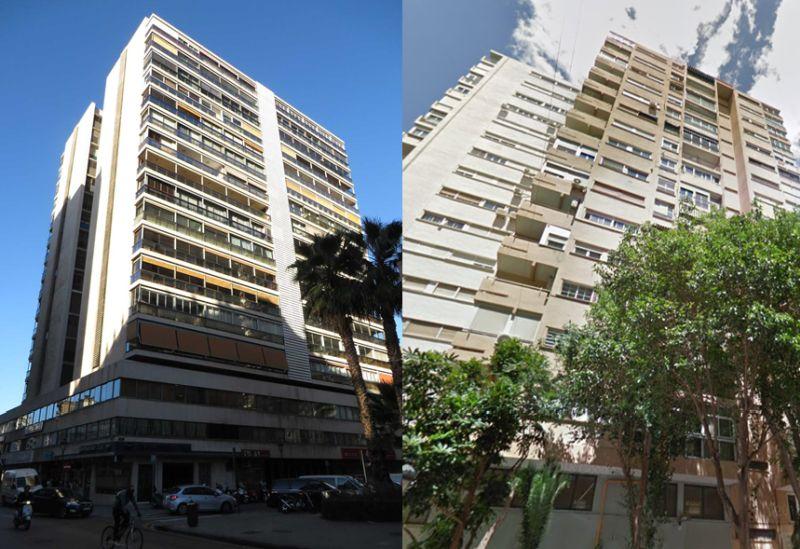 Rascacielos antiguos Valencia