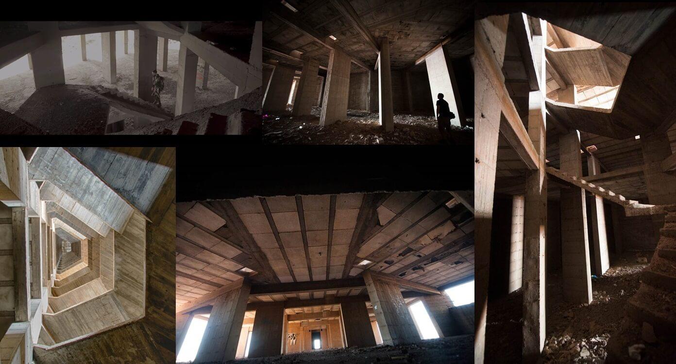 Interior hotel abandonado Añaza Bouvet de La Prohibida y Víctor Álgora