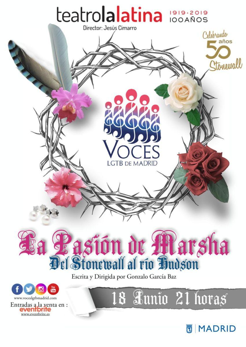 """Stonewall Inn con el coro Voces LGTB """"La pasión de Marsha: Del Stonewall al río Hudson""""."""