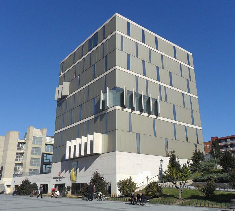 Biblioteca Pública José Hierro arquitectura vanguardia Madrid