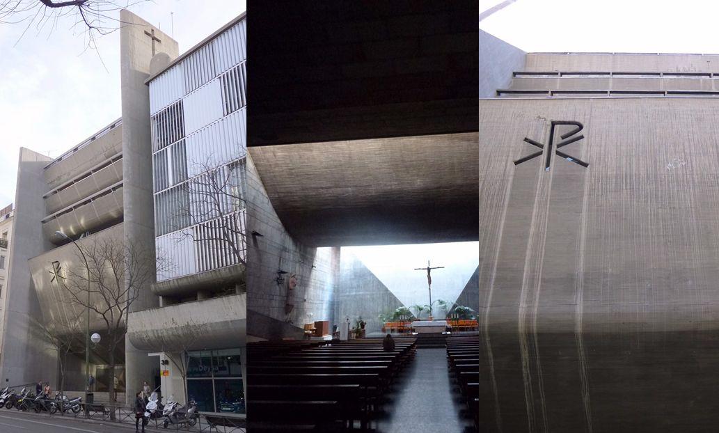 Brutalismo Madrid Iglesia de Nuestra Señora del Rosario de Filipinas