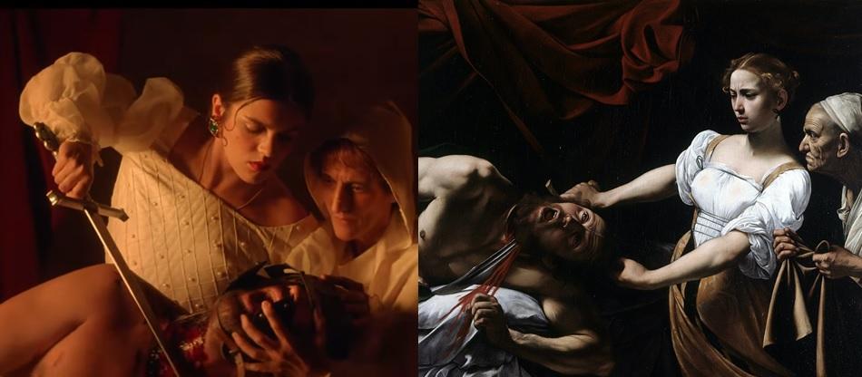 Quiero que vengas de Amaia Judit y Holofernes Caravaggio