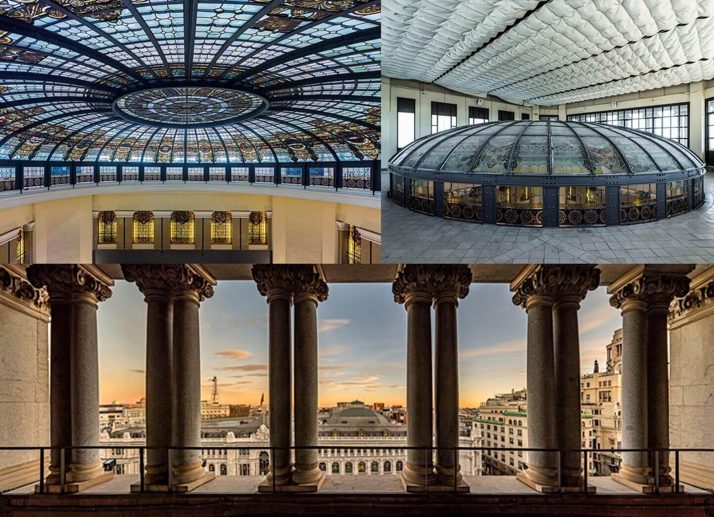 Cúpula del Instituto Cervantes Edificio Cariátides Madrid