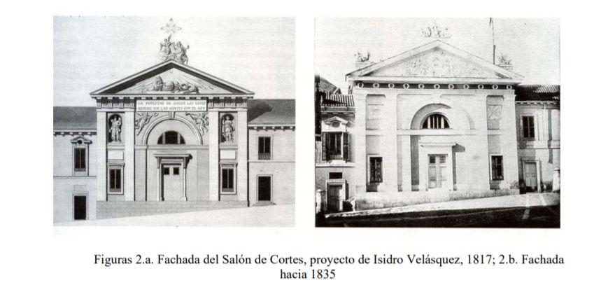 Fachada Palacio del Senado Madrid siglo XIX
