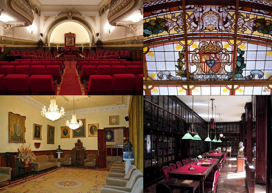Modernismo Madrid interior de la Real Academia Nacional de Medicina