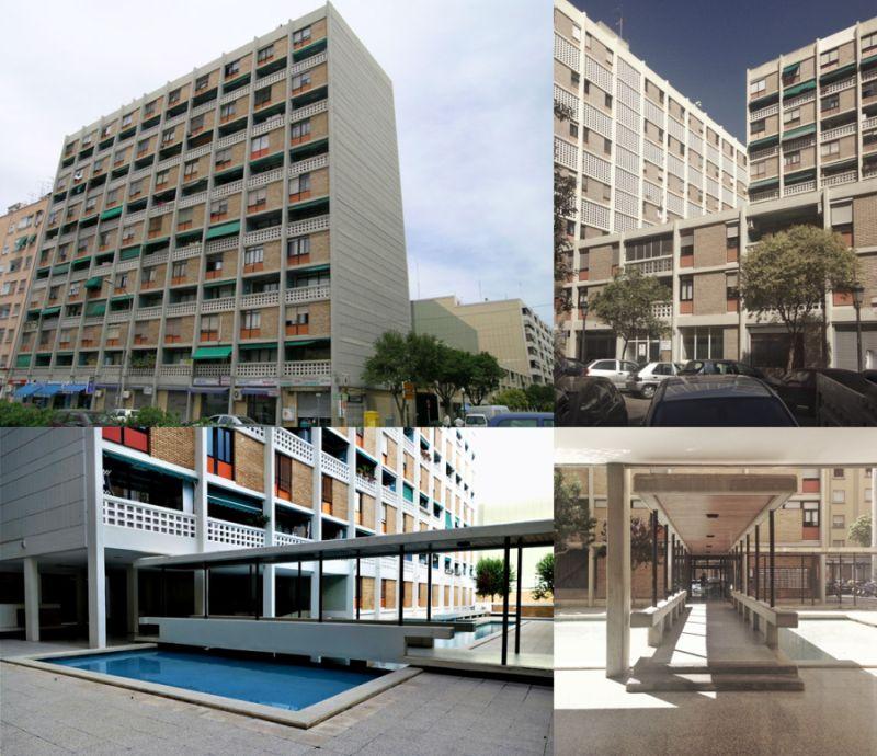 Viviendas Santa María Micaela Valencia Brutalismo racionalista anterior Casa do Brasil