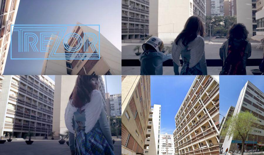 Barcelona Brutalista en el vídeo Trezor y la infancia trans
