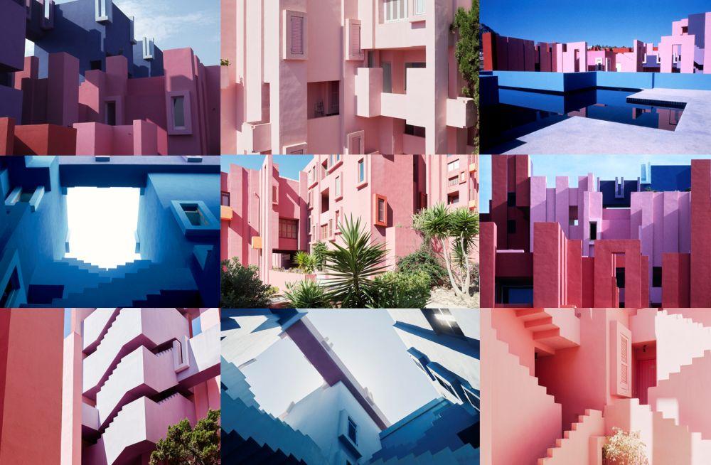 Muralla Roja Calpe obra de Ricardo Bofill