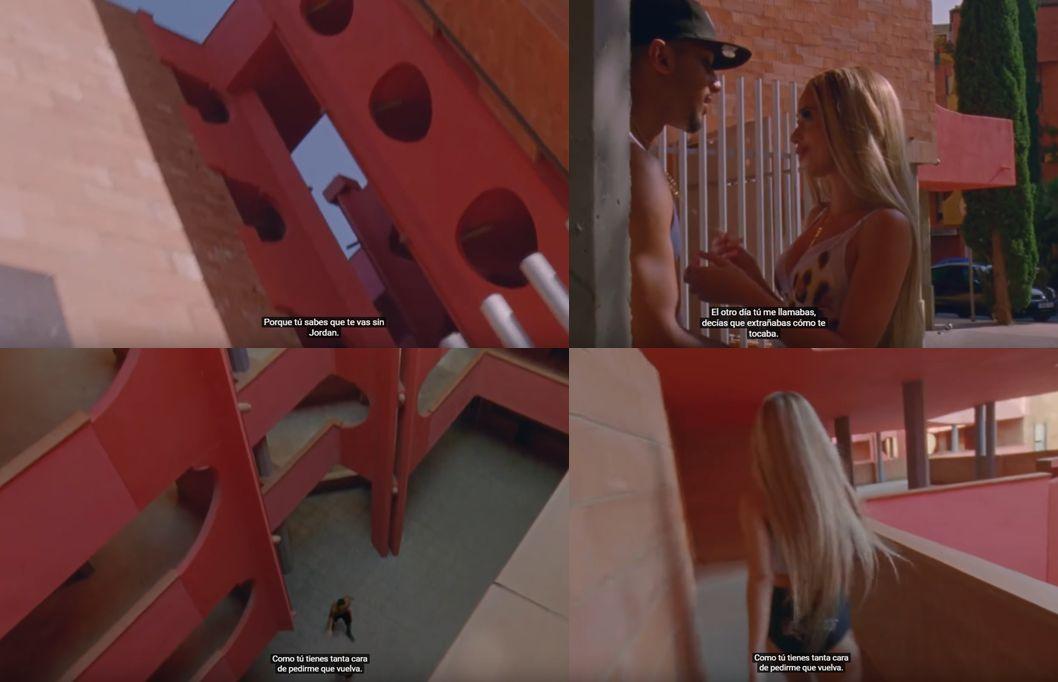 Partes rojas del Barrio Gaudí en el vídeo de Zorra de Bad Gyal.