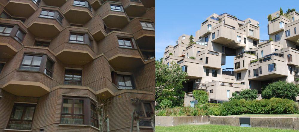 Vivienda modular años 60 Burgos y Habitat 67