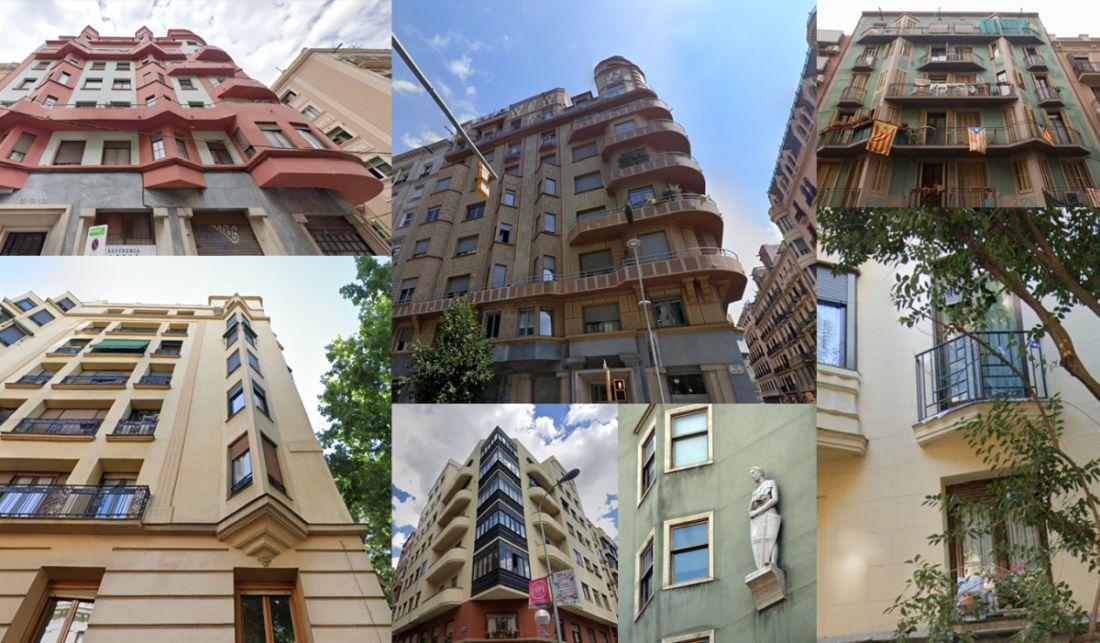 Formas triangulares en el Art Decó de Madrid y Barcelona