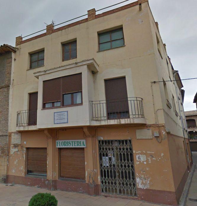 Racionalismo Art Decó en Huesca. Plaza Mayor y calle Las Damas 1 en Albalate de Cinca