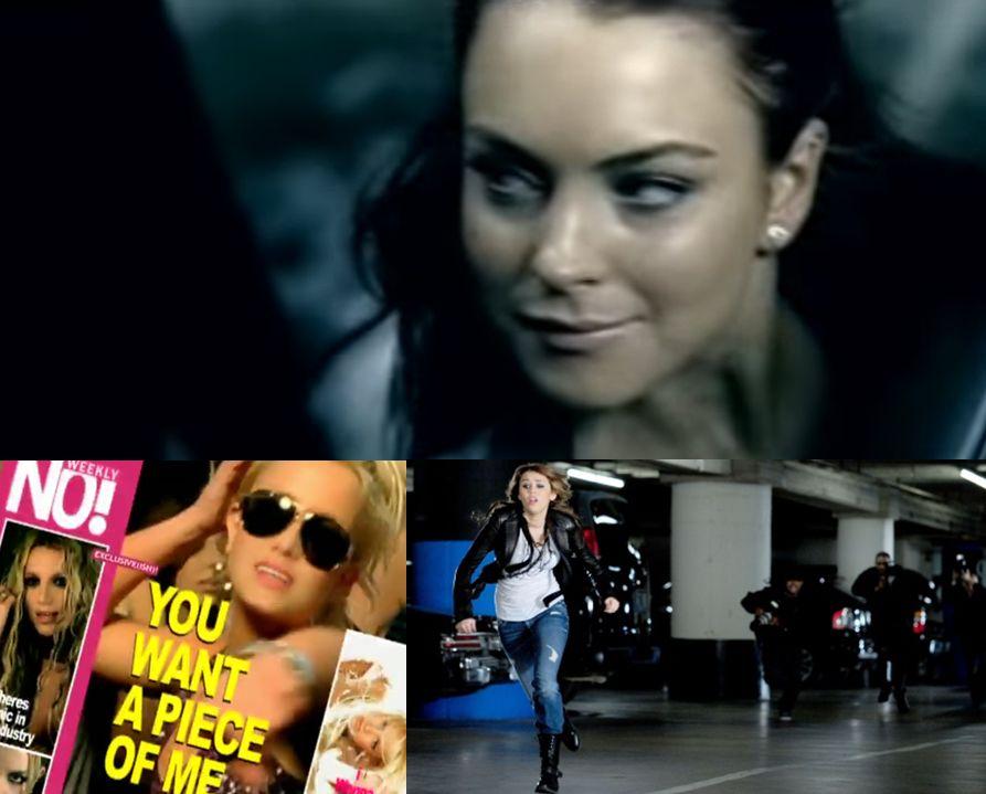 Contra el acoso de los paparazzi, Rumors de Lindsay Lohan antes que Spears y Cyrus