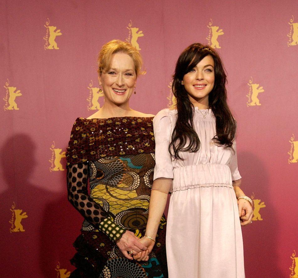Lindsay Lohan y Meryl Streep en la Berlinale de 2006