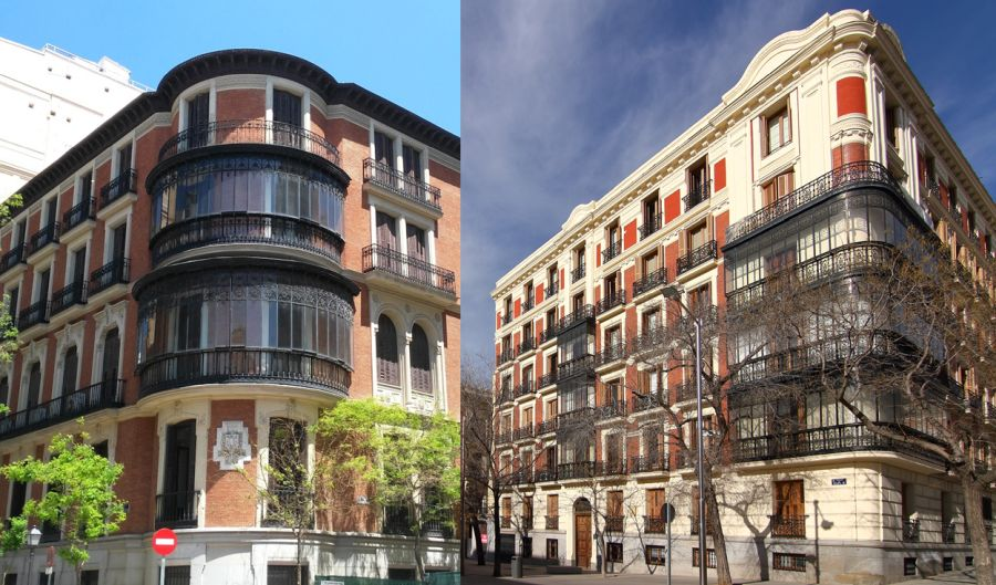 Chaflanes con mirador curvo en Madrid