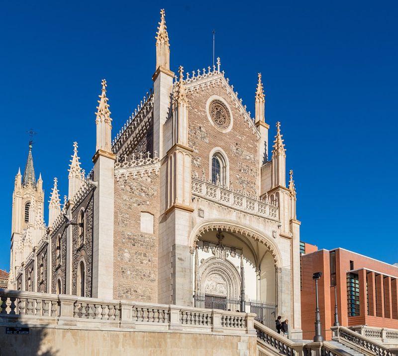 Fachada original de Los Jerónimos de Madrid