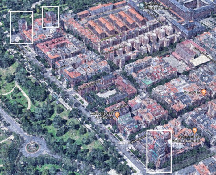 Arquitectura franquista en el barrio de Moncloa