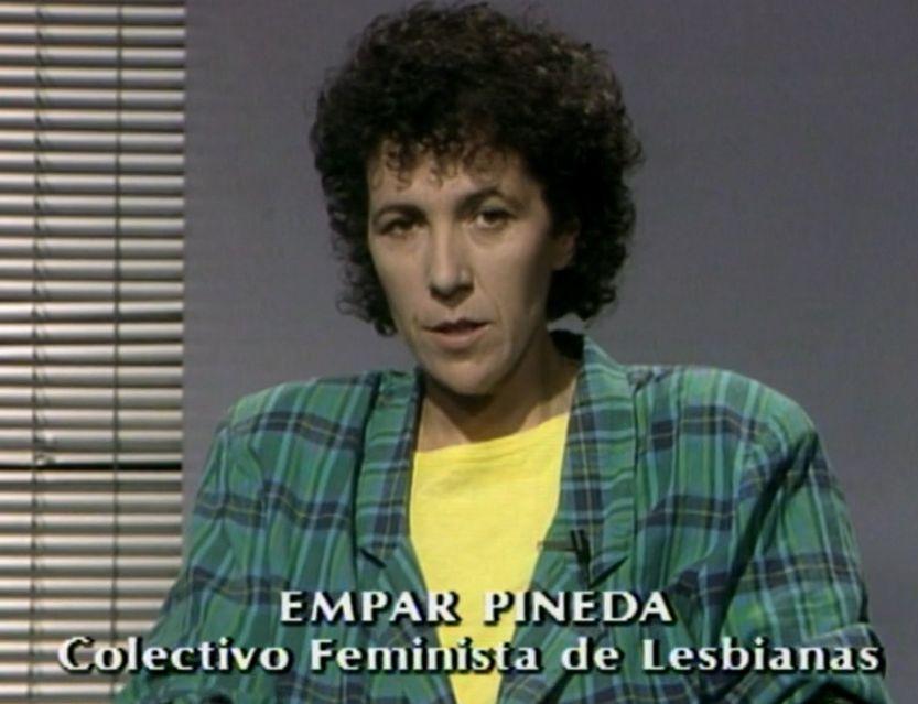 Colectivo Feminista de Lesbianas, Empar Pineda en TVE
