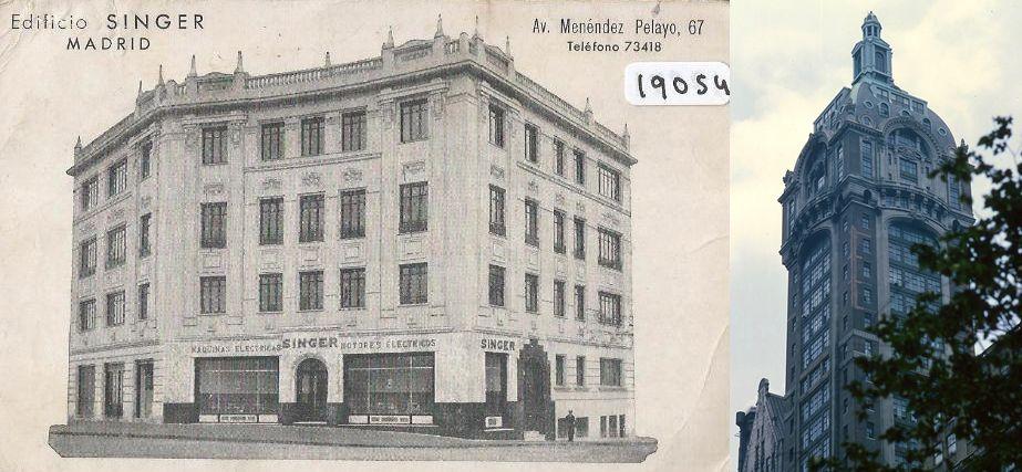 Edificio Singer de Madrid y Nueva York