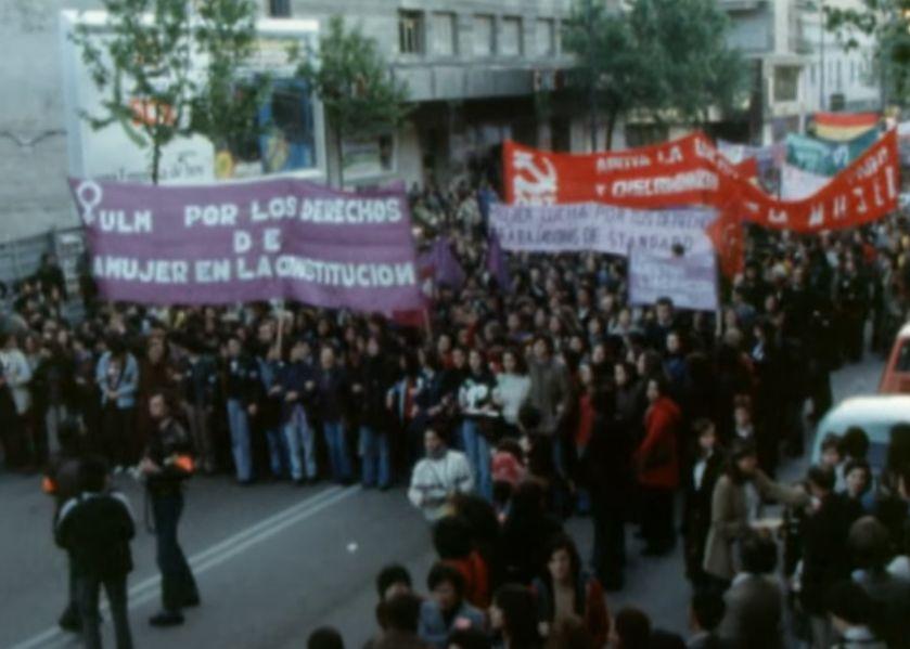 Manifestación feminista 1978 a favor aborto