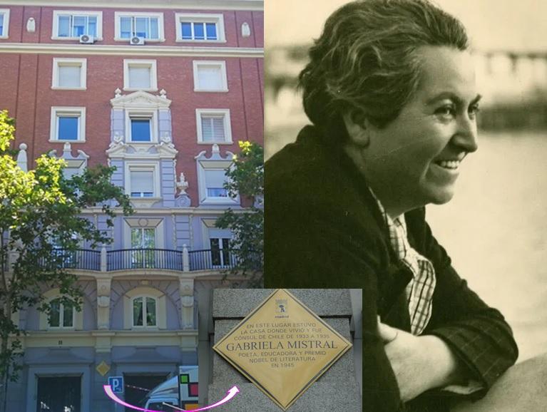Menéndez Pelayo 11, residencia del icono lésbico Gabriela Mistral, testigo del primer Orgullo de Madrid