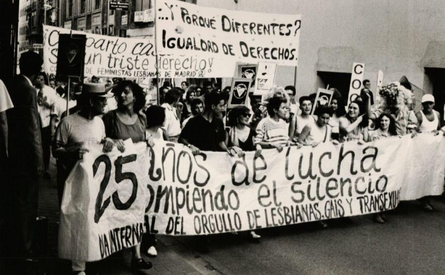 La Radical Gai en el Orgullo de Madrid en 1994