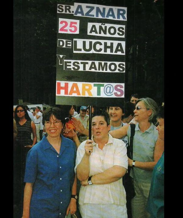 Mili Hernández García en un Orgullo de Madrid