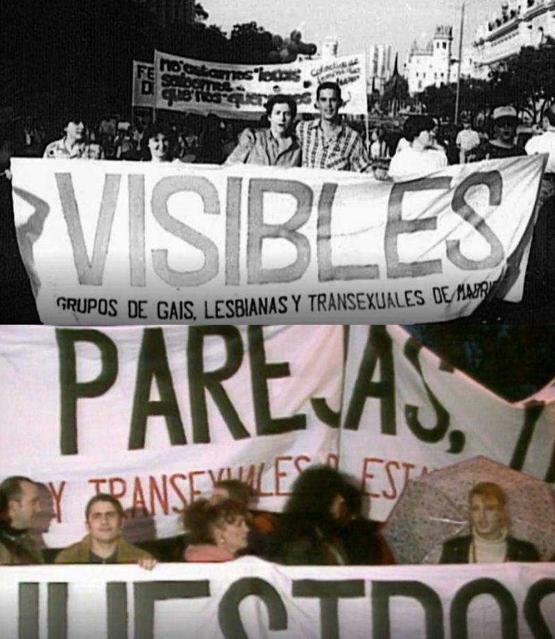 Orgullo de Madrid en los 90, con reivindicaciones lésbicas y trans