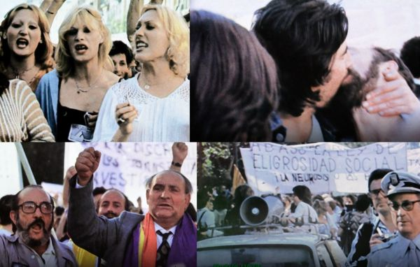 Participantes en el primer Orgullo de Madrid