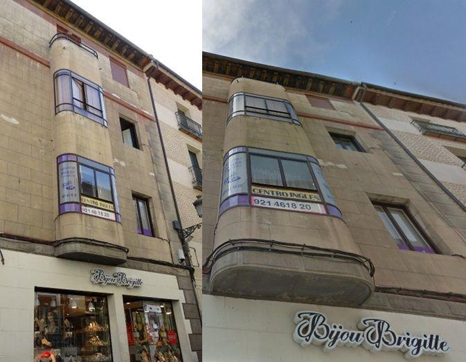 Calle Cervantes 26 de Segovia Art Decó
