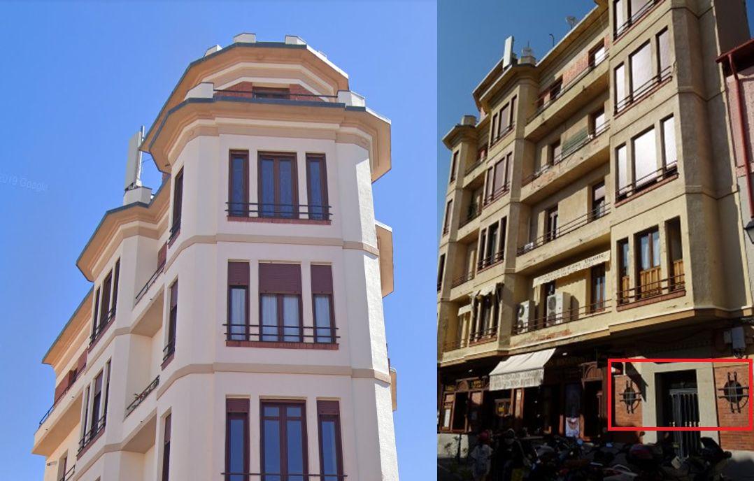 Calle Colón 1 y plaza de la Rubia de la Segovia Art Decó